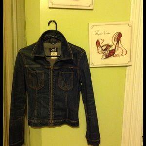 Vintage Dolce and Gabbana jean jacket.