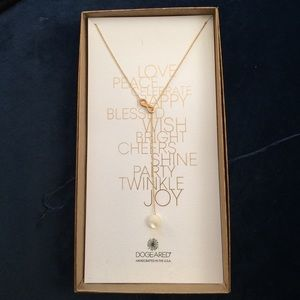 Dogeared infinity necklace with pearl accent