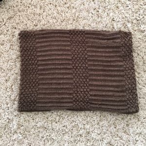 BDG Brown Knit Infinity Scarf