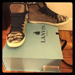 Lanvin Shoes - Lanvin Python sneakers