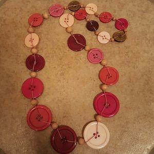 H&M Button Necklace