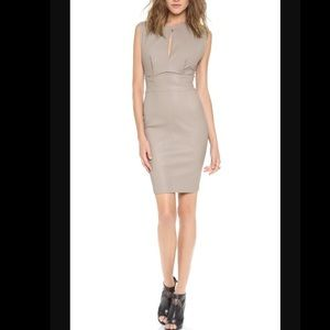 NWT Robert Rodriguez Leather Dress