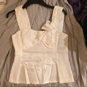 Nanette Lepore NWT white tank blouse