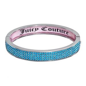 Juicy Couture Jewelry - JUICY COUTURE BLUE CRYSTAL BANGLE BRACELET