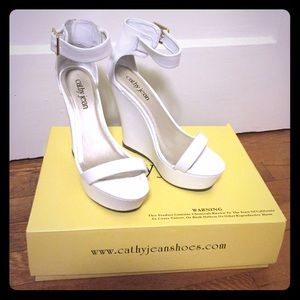 White Cathy Jean Wedges