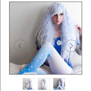 Accessories - Limited Edition High Quality Wavy Blue Ombré Wig