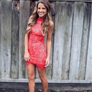 Dresses & Skirts - Beautiful red lace dress!
