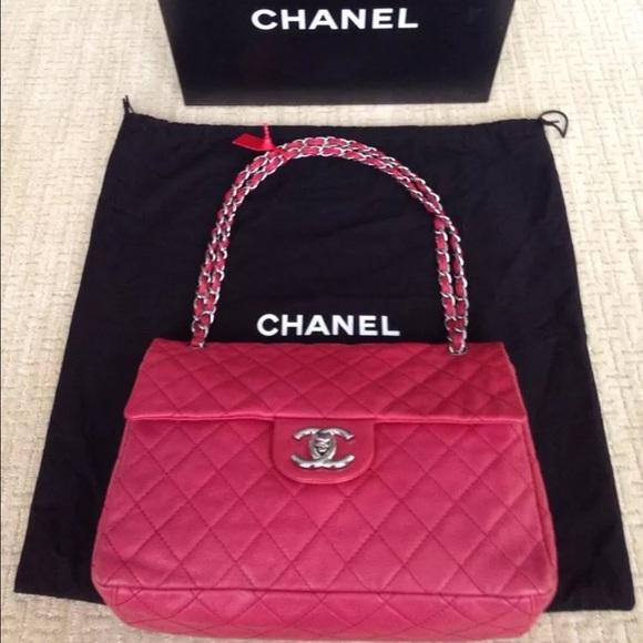 598e7e194f43b6 CHANEL Bags | Fuchsia Jumbo Xl Flap Bag | Poshmark