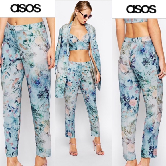 ASOS - Asos floral trousers cigarette pants from Miglė's ...