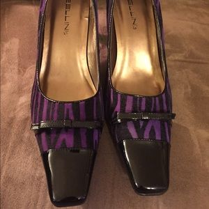 Purple & Black Animal Print Heels!!