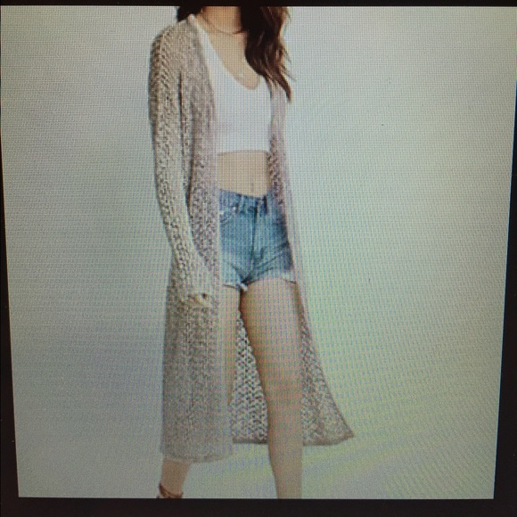 73% off Hollister Sweaters - Open knit duster cardigan from Sara's ...