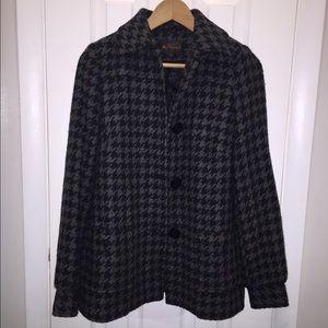 Ben Sherman houndstooth wool coat