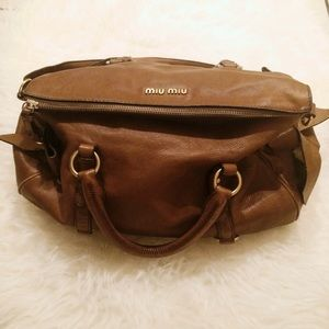 0f87417030c2 Miu Miu Bags - 🎉Miu Miu Vitello bow bag in camel brown
