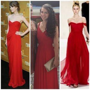 Monique Lhuillier Dresses & Skirts - Monique Lhuillier red ball gown ❤