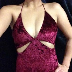 BRAND NEW W/ TAGS! Burgundy velvet dress