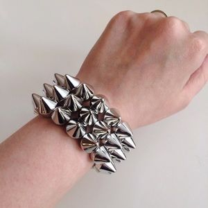 HALF OFF SALE | Silver Spike Cuff