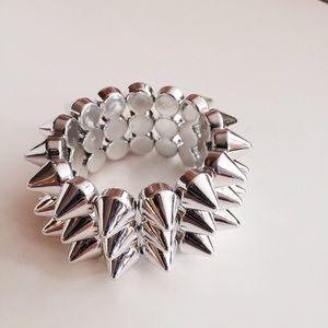 Jewelry - HALF OFF SALE | Silver Spike Cuff