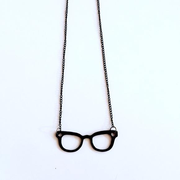 Jewelry - HALF OFF SALE | Black Glasses Necklace