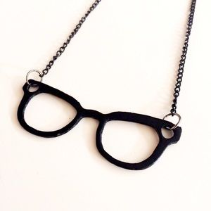 HALF OFF SALE | Black Glasses Necklace