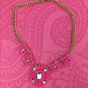 Lil+Lo Jewelry - Pink Flower Statement Necklace Lil+Lo