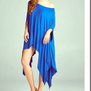 FashionBohoLoco Tops - Pleated Maxi Tunic Cape T Shirt Slip Dress NWOT