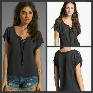 Free People S.F. Lace Top