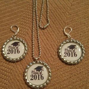Jewelry - Class of 2016 Bottlecap Necklace & Earring Set