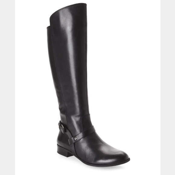 bee89180338 Anne Klein Kahlan Black Riding Boot (8)