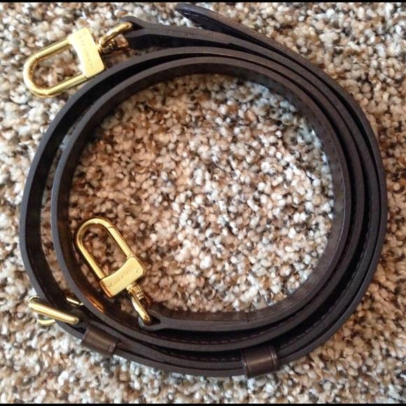 7899332e350fd Louis Vuitton Handbags - Louis Vuitton Adjustable Strap 16 MM Ebene Leather