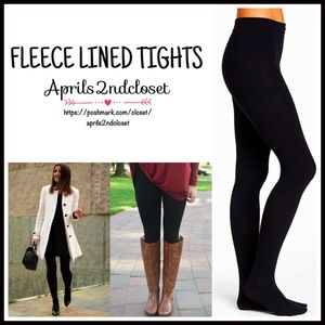 Boutique Accessories - ❗️1-HOUR SALE❗️Black Tights FLEECE LINED TIGHTS