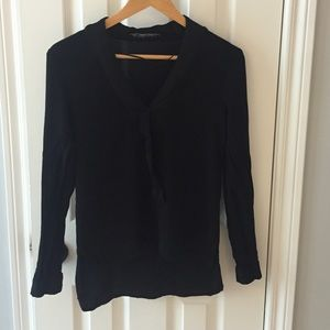 Zara high low, v neck top