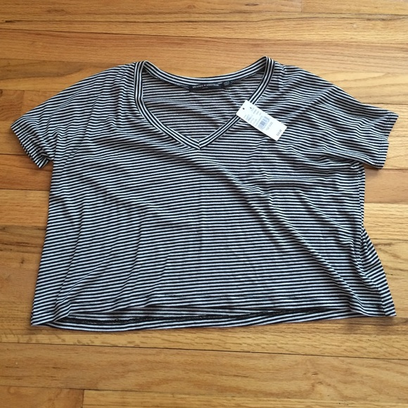 62f473113ac Brandy Melville Tops | New Striped Cropped Top | Poshmark