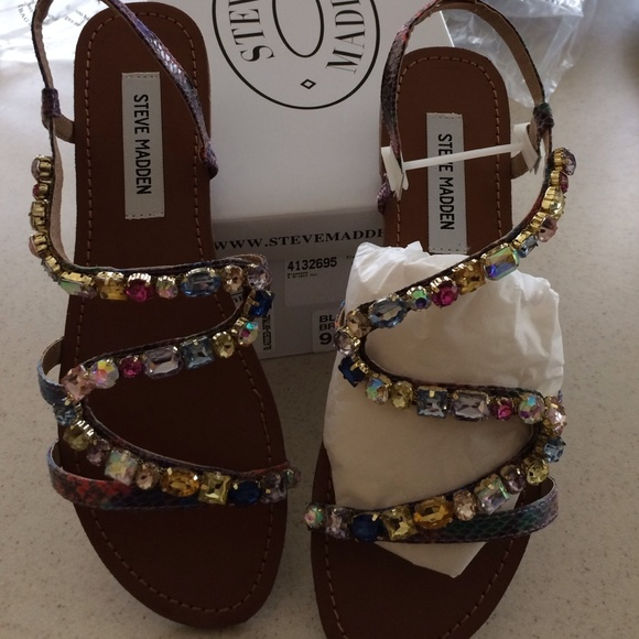 2545973e5074a9 Steve Madden jeweled sandals