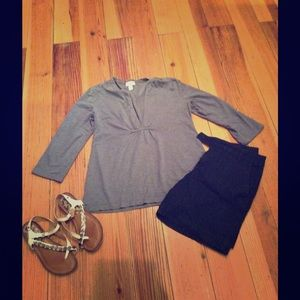 Baby blue cotton tunic top