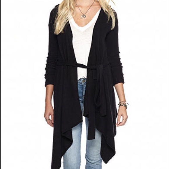 37% off Free People Sweaters - NWT Free People Sloane Hooded Wrap ...