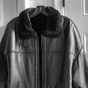 Wilson's 100% Leather Fur Lined Jacket