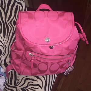 coach online outlet sale er37  pink coach backpack
