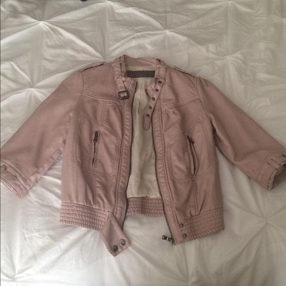 Zara - Zara dusty pink leather jacket from Jolene's closet on Poshmark