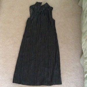 Black and white striped midi dress, size 4