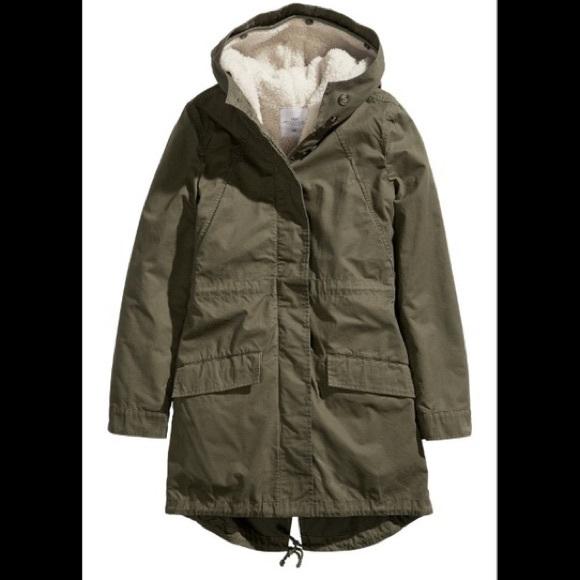 H&M Olive Green Parka Jacket