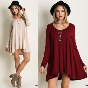 """Waltz"" Long Sleeve Shift Dress"