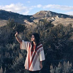 Vintage southwestern desert kimono sleeve dress