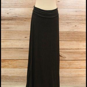 Charcoal Jersey Maxi Skirt