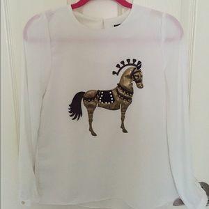 Choies equestrian blouse