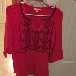 Evereve Tops - NWOT Aztec Flowy shirt