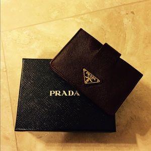 Prada card holder on Poshmark