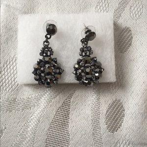 Jewelry - Gray rhinestone fashion earrings from bridal store