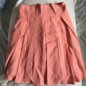 Chic wish high waist skater skirt in coral