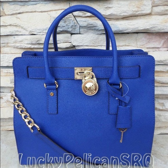 Michael Kors Hamilton Tote in Royal Blue