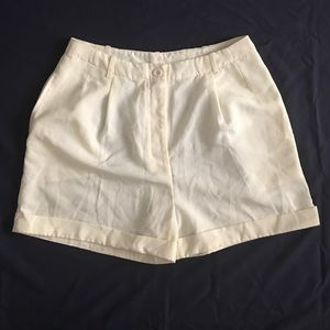 American Apparel High-Waisted Pleated Shorts